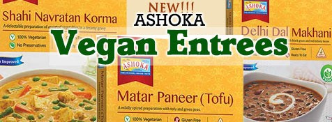 New Ashoka Vegan Ready to Eat Entrees