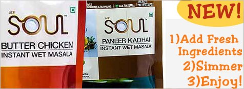 ADF Soul Instant Indian Spice Mixes at iShopIndian.com