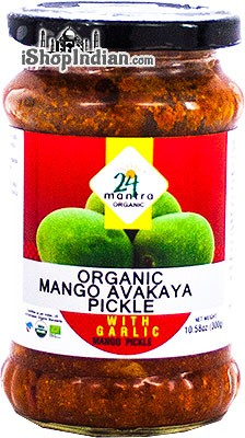 24 Mantra Organic Mango Avakaya Pickle with Garlic
