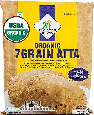 24 Mantra Organic 7 Grain Atta / Flour -  2.2 lbs