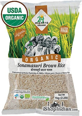 24 Mantra Organic Brown Sona Masoori Rice - 2.2 lbs