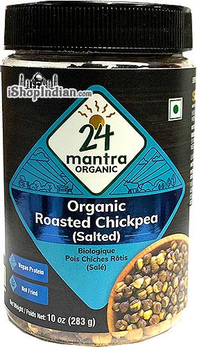 24 Mantra Organic Roasted Chickpeas - Salted