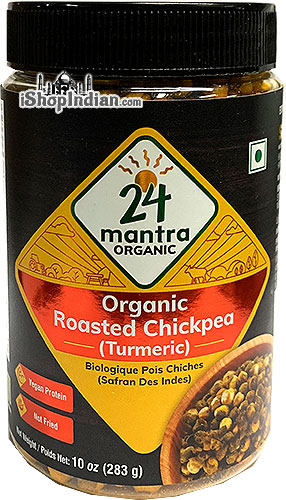 24 Mantra Organic Roasted Chickpeas - Turmeric