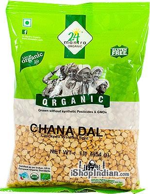 24 Mantra Organic Chana Dal / Bengal Gram - 1 lb