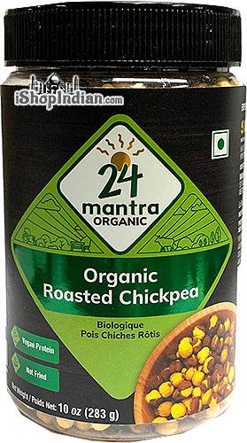 24 Mantra Organic Roasted Chickpeas - Plain