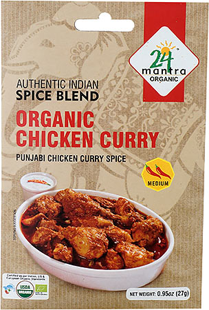 24 Mantra Organic Chicken Curry Spice Mix - Punjabi Chicken Curry Spice