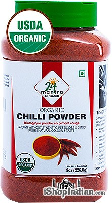 24 Mantra Organic Chili Powder - 8 oz jar