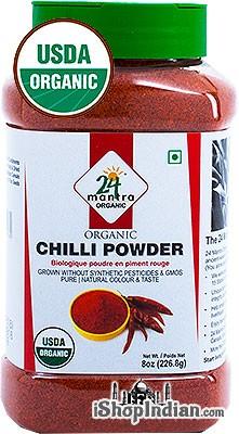 24 Mantra Organic Chili Powder - 8 oz jar