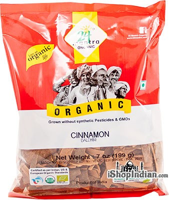 24 Mantra Organic Cinnamon Whole - Flat