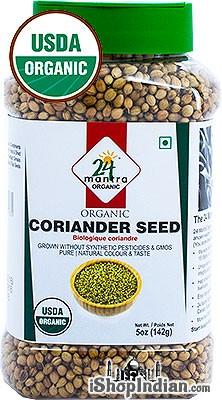 24 Mantra Organic Coriander Seeds - 5 oz jar