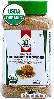 24 Mantra Organic Coriander Powder - 8 oz jar