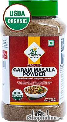 24 Mantra Organic Garam Masala  - 10 oz jar