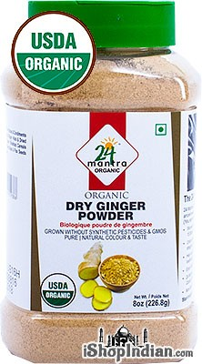 24 Mantra Organic Ginger Powder - 8 oz jar