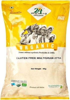 24 Mantra Organic Gluten Free Multigrain Atta (Flour) - 8.8 lbs
