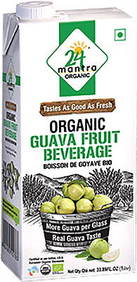 24 Mantra Organic Guava Fruit Beverage- 1 liter