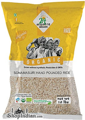 24 Mantra Organic Sona Masuri Rice - Handpounded - Semi-Brown Rice