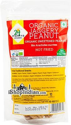 24 Mantra Organic Jaggery Peanuts - Organic Sweetened Peanuts