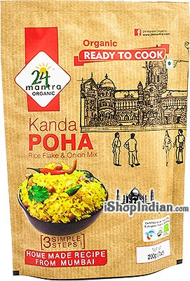 24 Mantra Organic Kanda Poha (Rice Flakes & Onion Mix) - Ready to Cook