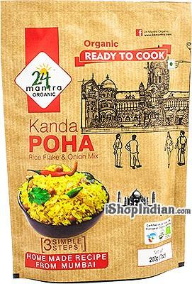 24 Mantra Organic Kanda Poha (Rice Flakes & Onion Mix) - Ready to Cook