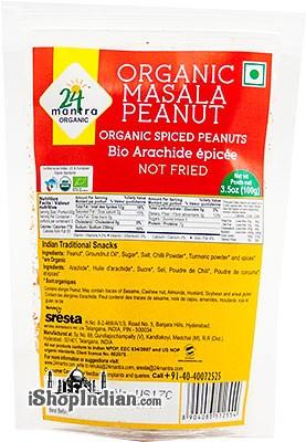 24 Mantra Organic Masala Peanut - Organic Spiced Peanuts