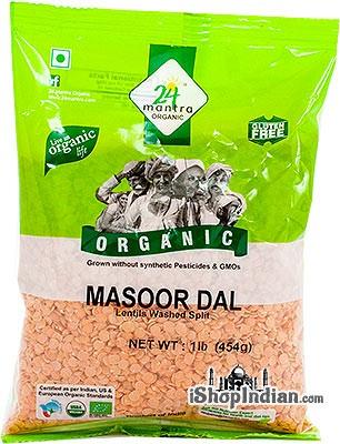 24 Mantra Organic Masoor Dal (Red Lentil) - 1 lb