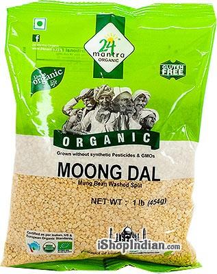 24 Mantra Organic Moong Dal - 1 lb