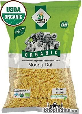 24 Mantra Organic Moong Dal - 2 lbs