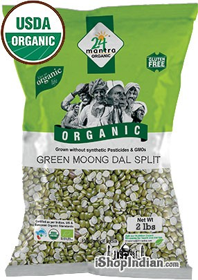 24 Mantra Organic Moong Split (Split Mung Beans) - 2 lbs