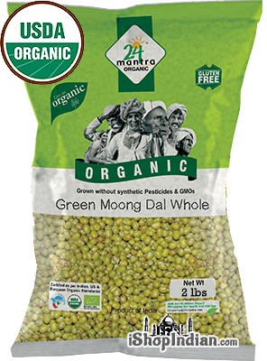 24 Mantra Organic Moong Whole (Mung Beans) - 2 lbs