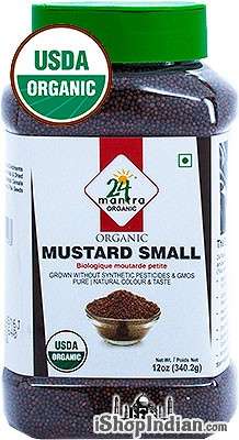 24 Mantra Organic Mustard Seeds (Small) - 12 oz jar