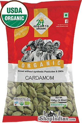 24 Mantra Organic Green Cardamom Pods