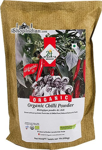 24 Mantra Organic Chili Powder - 1 lb
