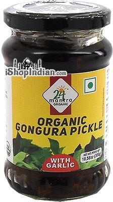 24 Mantra Organic Gongura Pickle with Garlic