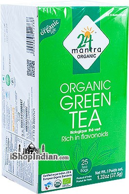 24 Mantra Organic Green Tea Bags - 25 CT
