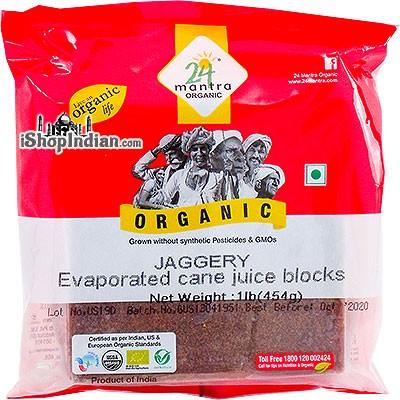 24 Mantra Organic Jaggery - Evaporated Cane Juice Block