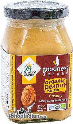24 Mantra Organic Peanut Butter - Creamy