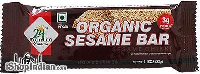 24 Mantra Organic Sesame Bar - Sesame Chikki