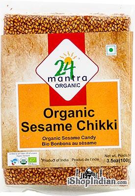 24 Mantra Organic Sesame Chikki - Sesame Candy