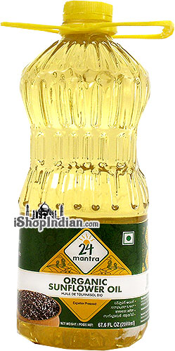 24 Mantra Organic Sunflower Oil - 2 liters