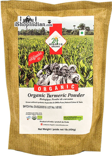 24 Mantra Organic Turmeric Powder - 1 lb