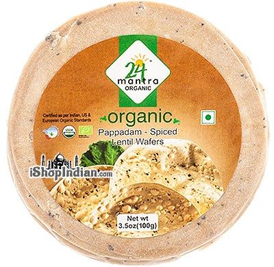 24 Mantra Organic Papad - Spiced