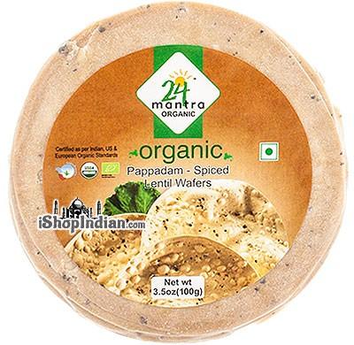 24 Mantra Organic Papad - Spiced