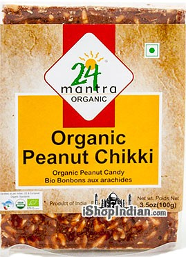 24 Mantra Organic Peanut Chikki - Peanut Candy