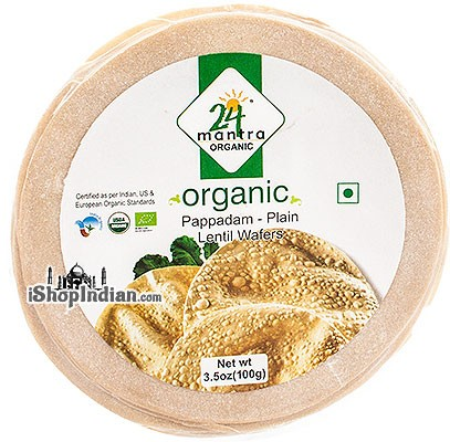 24 Mantra Organic Papad - Plain