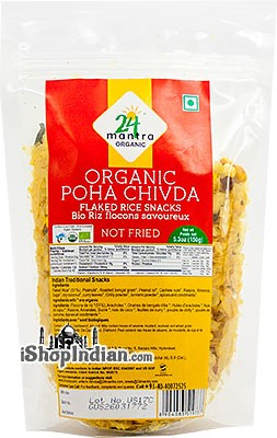 24 Mantra Organic Poha Chivda - Flaked Rice Snack