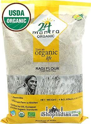24 Mantra Organic Ragi (Finger Millet) Flour - 4 lbs