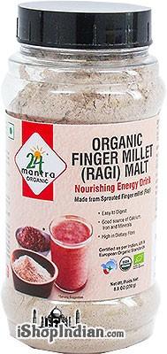 24 Mantra Organic Finger Millet (Ragi) Malt - Nourishing Energy Drink