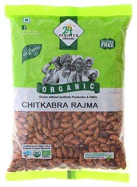 24 Mantra Organic Kidney Beans / Rajma (Himalayan Chitkabra Rajma) - 4 lbs