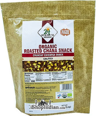 24 Mantra Organic Roasted Chana Snack - Salted