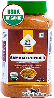 24 Mantra Organic Sambar Powder - 10 oz jar